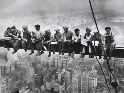 trabajadores en andamio