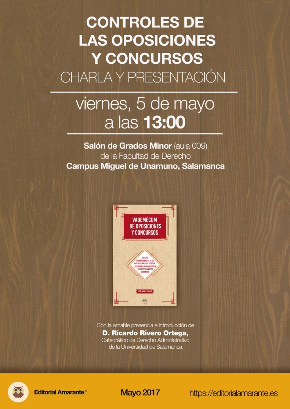 Editorial Amarante - Jose Ramon Chaves - Vademecum de oposiciones y concursos - 05-05-2017