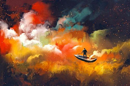 hombre en el bote