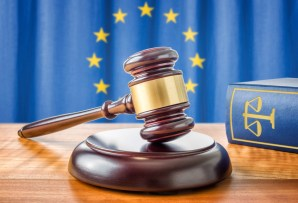 Gavel and a law book - European union