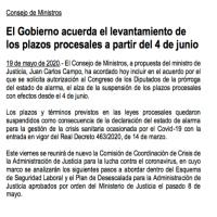 La Justicia en marcha: arranque de plazos el próximo 4 de junio