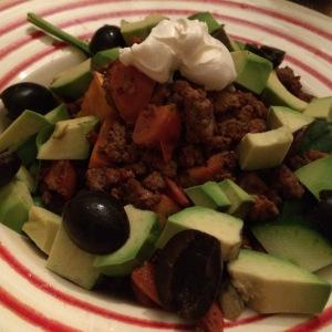 Burrito Bowl Salad; Delalicious