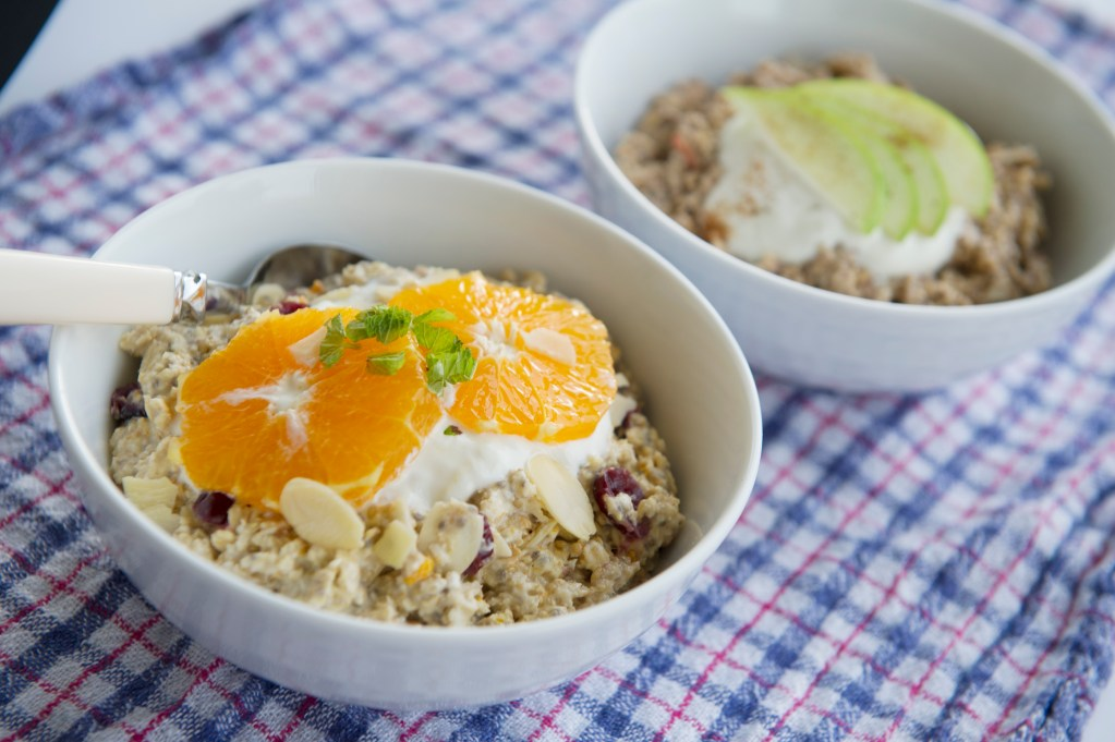 Apple & Cinnamon Bircher Muesli; Delalicious