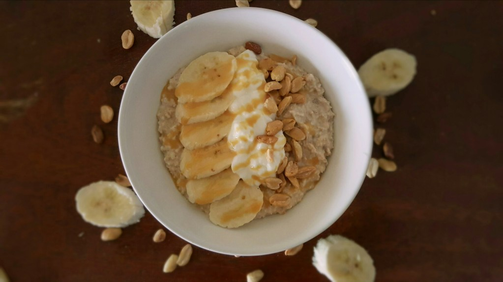 Banana & Nut Overnight Oats; Delalicious