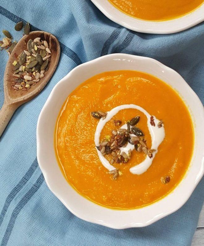 Carrot, Coriander & Ginger Soup; Delalicious