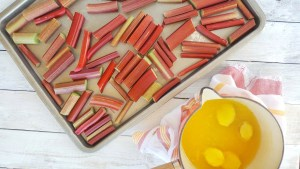 Ginger & Orange Poached Rhubarb; Delalicious