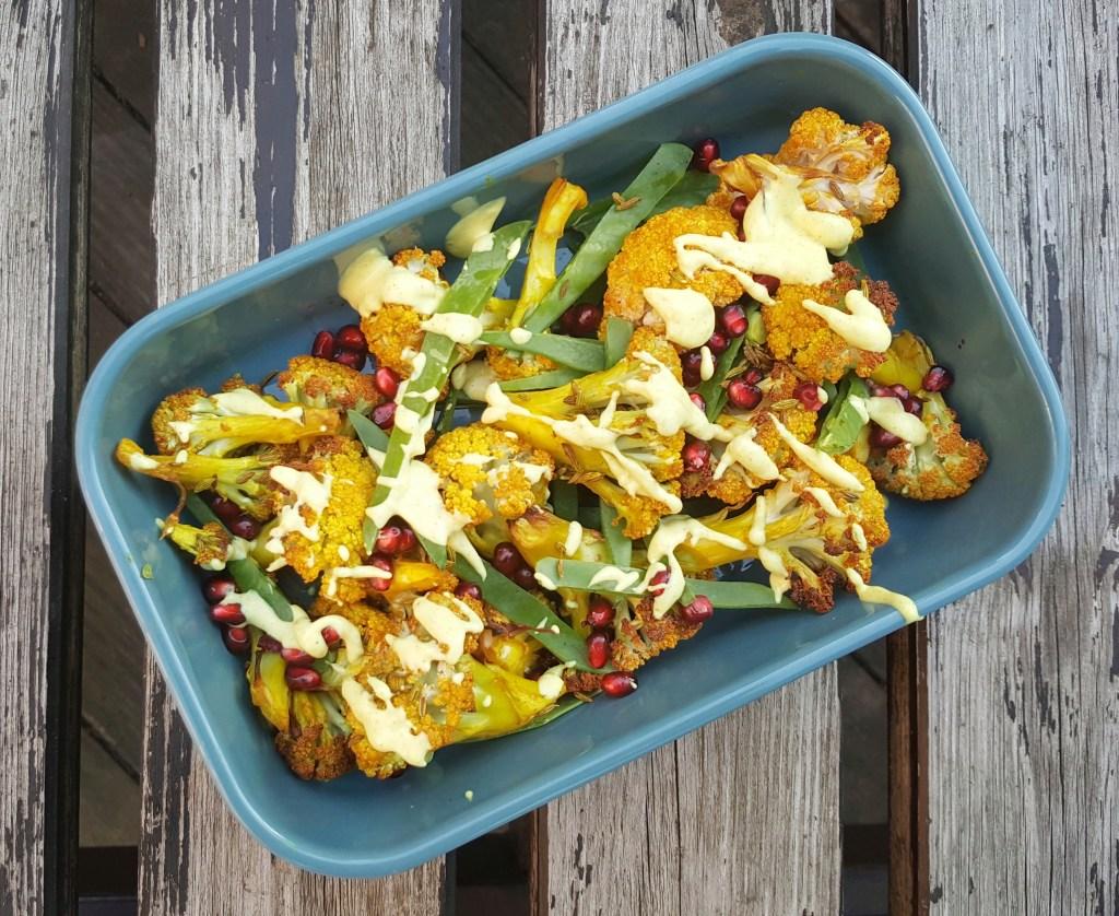 Curried Cauliflower Salad; Delalicious