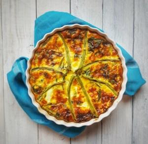 Cheesy Greens Quiche; Delalicious