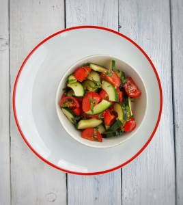 Tomato, Cucumber & Mint Salad; Sinead Delahunty; Delalicious