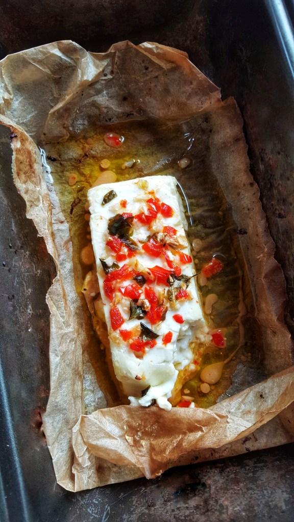 Chilli & Garlic Baked Feta; Delalicious; Sinead Delahunty
