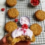 Raspberry & Oat Shortbread Cookies; Delalicious; Sinead Delahunty