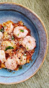Tomato & Chilli Prawn Tagliatelle; Delalicious; Sinead Delahunty