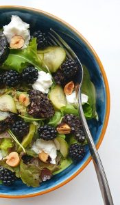 Blackberry, Goats Cheese & Black Pudding Salad; Delalicious; Sinead Delahunty
