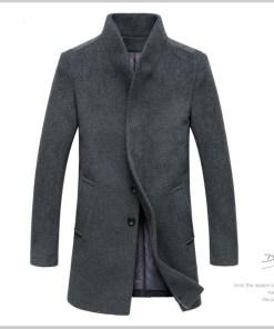 Мужское шерстяное зимнее пальто. Натуральная шерсть. Модель 803