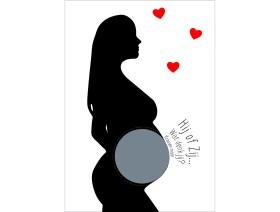 Gender reveal kraskaart zwangere jongen