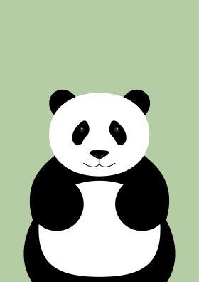 Poster van een panda