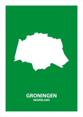 Abstracte stadsposter Groningen