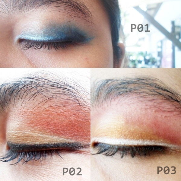 Hasil Eye Shadow Sariayu Inspirasi Papua Tipe P01, P02 dan P03