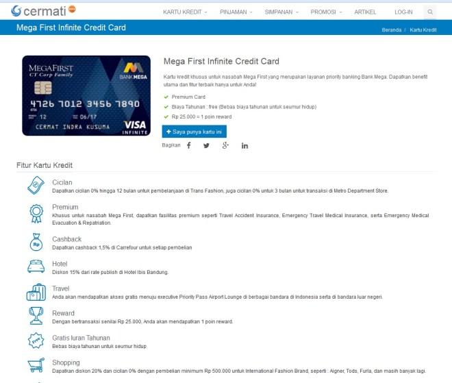 Info Kartu Kredit di Cermati lengkap kap kap!