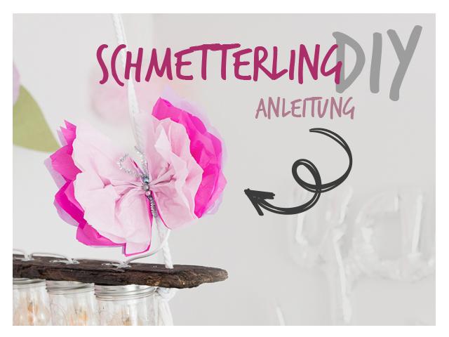 Schmetterling DIY aus Seidenpapier