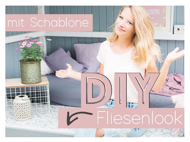 DIY Fliesenschablone – Fliesen Look mit Schablone – Freebie