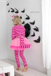 Grinsekatze Kostüm Kinder Halloween nähen Diy