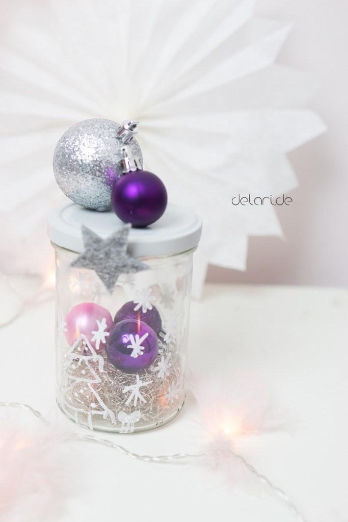 Weihnachten basteln Kinder Badebombe Federlichterkette Ideen weihnachtsstern