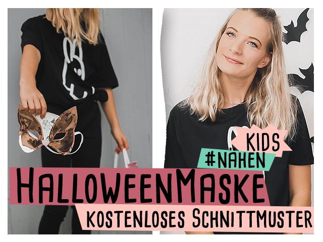 Halloweenmaske für und mit Kindern nähen – kostenloses Schnittmuster  //delari