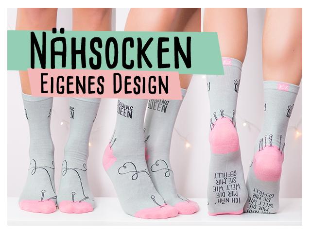 Nähsocken – eigenes Design – Delari Socken