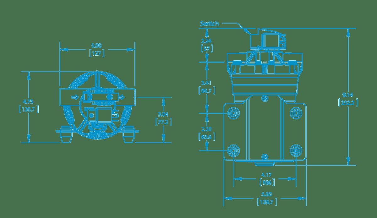 hight resolution of bypass demand diaphragm pumps