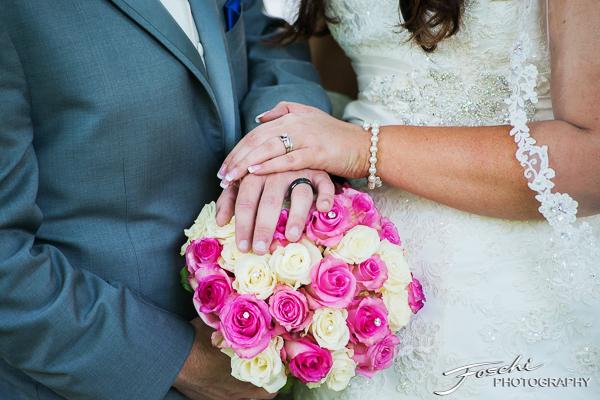 Foschi Orner hands and bouquet
