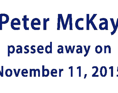 In Memoriam – Pete McKay