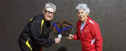 Source: Submitted Susan Brooker, left, and Georgia Billger squared off with their pickleball partners Boe Harris and Kathy Casey recently at the PickleBowl Tournament hosted by the YMCA of Pocomoke, Md.