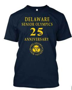 Delaware Senior Olympics Commemorative tee shirt