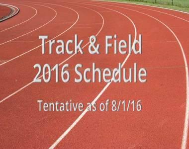 2016 Track & Field Schedule