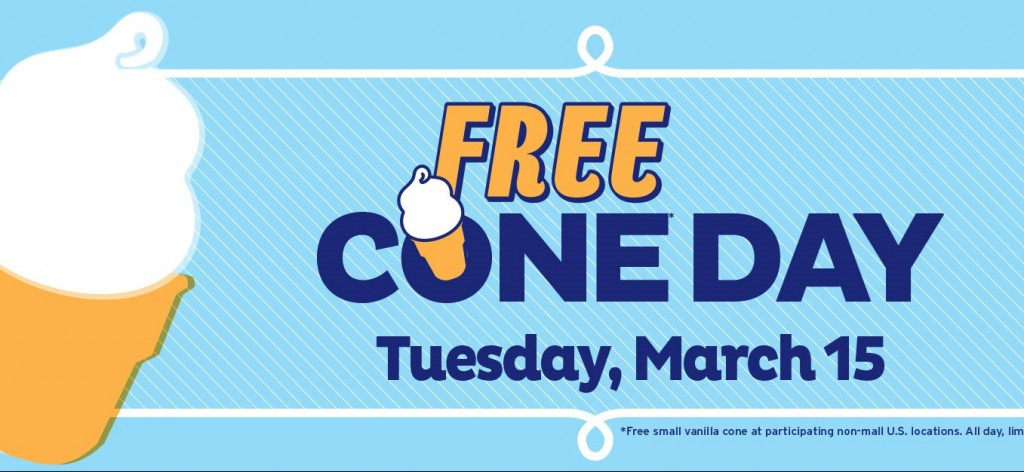 Free Cone Day Dairy Queen
