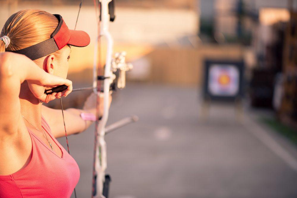 woman archery