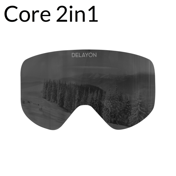 DELAYON Eyewear Core 2in1 Lens STRONG Black