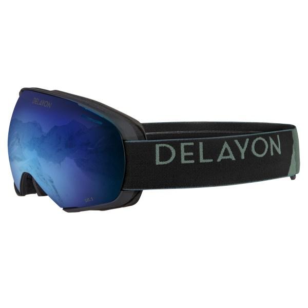 DELAYON Eyewear Puzzle Goggle Matte Black Space Blue