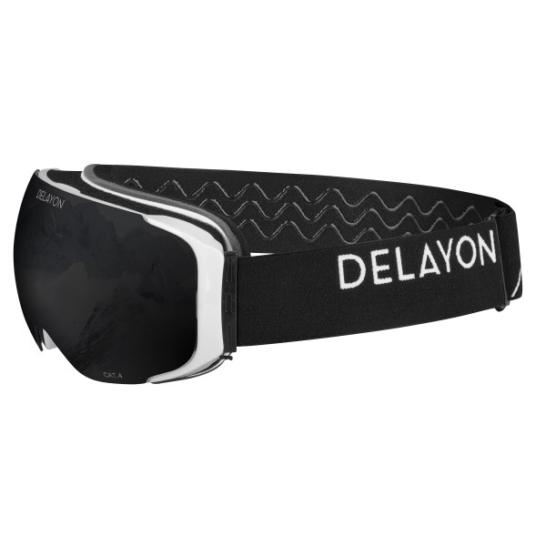 Delayon Eyewear Explorer Goggle White Black Strong Black