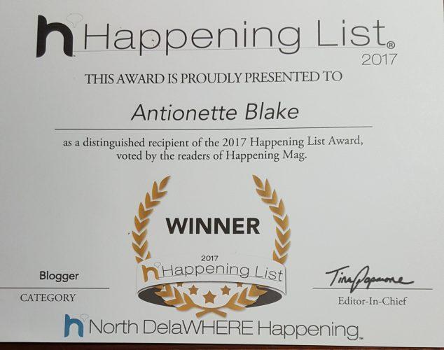 Best Blogger 2017 Certificate