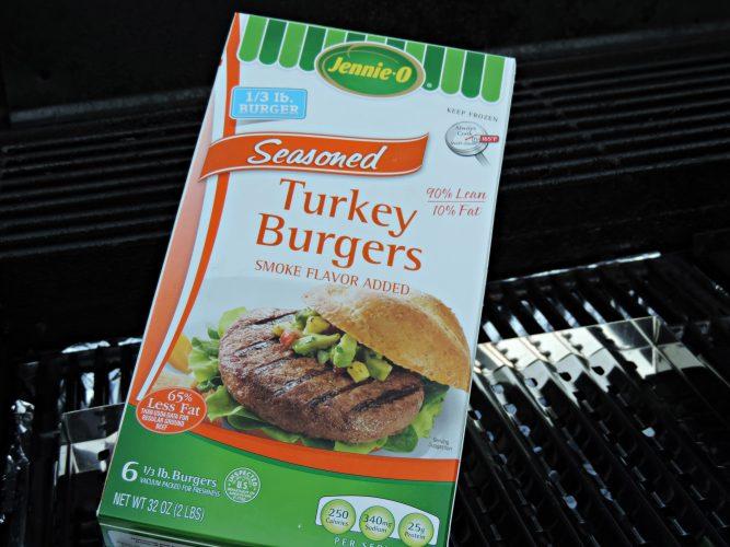 Jennie-O Turkey burgers on the grill