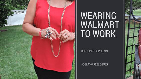 Wearing Walmart to Work