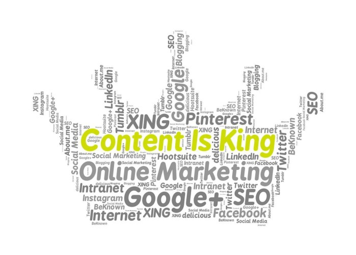 content is king in blogging