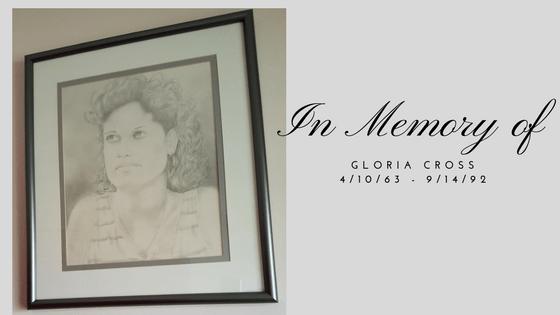 In Memory of Gloria-Cross