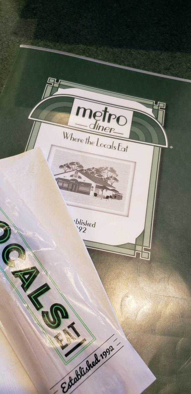 Metro Diner Menu