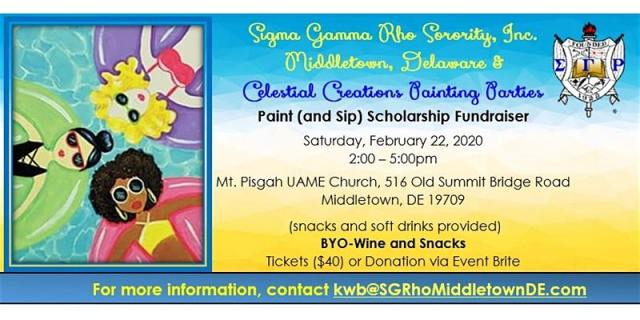 Paint and Sip with Sigma Gamma Rho Sorority