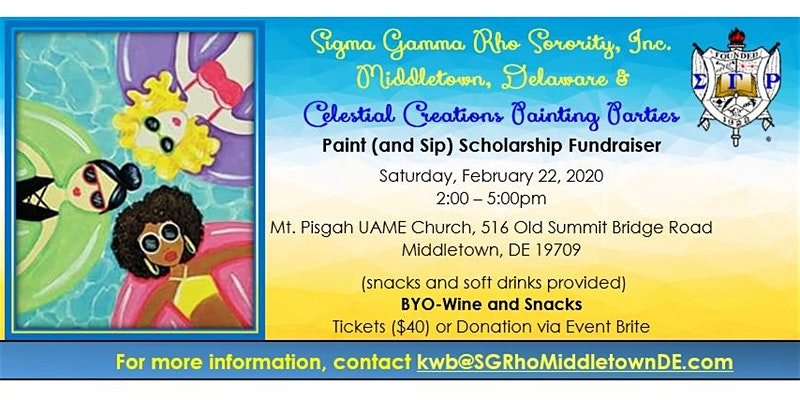 Paint and Sip sponsored by Sigma Gamma Rho Sorority