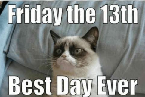 Grumpy Cat Friday the 13th meme