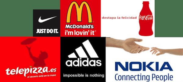 Eslogan publicitario marcas. Tipos de eslogan